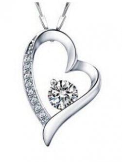 Charming Sterling Silver Heart Pendant